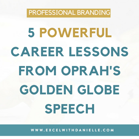 5 Powerful Career Lessons from Oprah's Golden Globe Speech (That you might have missed)